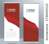 roll up business brochure flyer ... | Shutterstock .eps vector #1730433115