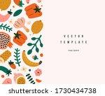 organic foods frame template ... | Shutterstock .eps vector #1730434738