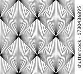 art deco pattern. vector black... | Shutterstock .eps vector #1730436895