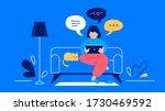 communication chatting woman... | Shutterstock .eps vector #1730469592