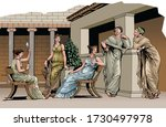 Ancient Greece   Group Of Young ...