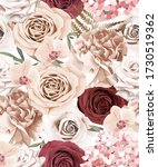 floral seamless pattern with... | Shutterstock .eps vector #1730519362