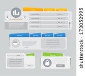 website template navigation... | Shutterstock .eps vector #173052995