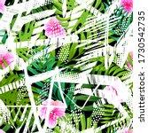 fashion tropics funny... | Shutterstock .eps vector #1730542735