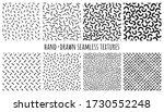 set of hand drawn seamless... | Shutterstock .eps vector #1730552248