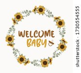 welcome baby card. lettering... | Shutterstock .eps vector #1730554555