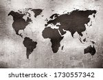 Grunge Map Of The World Over...