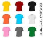 set object of t shirt mockup... | Shutterstock .eps vector #1730559508