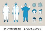 nice vector set of equipments... | Shutterstock .eps vector #1730561998