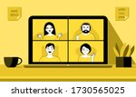 work from home  video... | Shutterstock .eps vector #1730565025