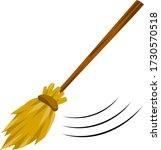 broom. rustic item for house...   Shutterstock .eps vector #1730570518