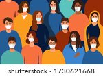 colorful background of a group... | Shutterstock .eps vector #1730621668
