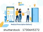 online purchase of medication... | Shutterstock .eps vector #1730645272
