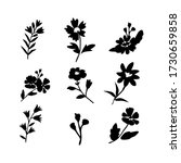 vector flowers isolated icons... | Shutterstock .eps vector #1730659858