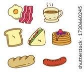 set of breakfast vector... | Shutterstock .eps vector #1730660245