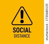social distancing sign.... | Shutterstock .eps vector #1730680135