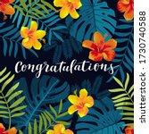 congratulations greeting card....   Shutterstock . vector #1730740588