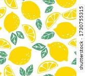 yellow lemons and green leaves   Shutterstock .eps vector #1730755315