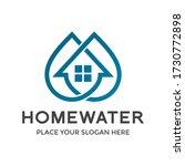 home water vector logo template.... | Shutterstock .eps vector #1730772898