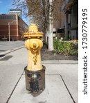 Large Yellow Fireplug With...