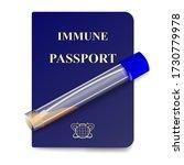immunity passport and...   Shutterstock .eps vector #1730779978