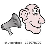 listen megaphone | Shutterstock .eps vector #173078102