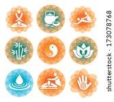 massage spa symbols backgrounds ...   Shutterstock .eps vector #173078768