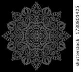 white outline mandala on a... | Shutterstock .eps vector #1730801425
