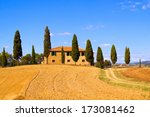 Classic Tuscany Landscape With...