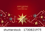 merry christmas and happy new... | Shutterstock .eps vector #1730821975