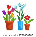 different blooming flower in... | Shutterstock .eps vector #1730830288