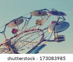 classic amusement park ride... | Shutterstock . vector #173083985