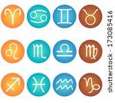 vector set of zodiac sign in in ... | Shutterstock .eps vector #173085416