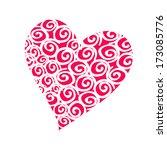 pink heart. vector   Shutterstock .eps vector #173085776