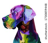 Colorful Great Dane Dog On Pop...