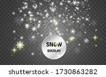 snowfall. a lot of snow on a... | Shutterstock .eps vector #1730863282
