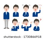 set of illustrations of male... | Shutterstock .eps vector #1730866918