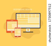 responsive web design concept...   Shutterstock .eps vector #1730897512