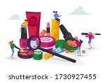 cosmetics masterclass  face...   Shutterstock .eps vector #1730927455