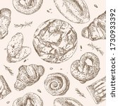 vector seamless pattern with...   Shutterstock .eps vector #1730933392