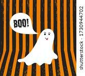 Boo Ghost Halloween Message...
