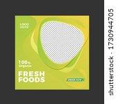 organic fresh foods social... | Shutterstock .eps vector #1730944705