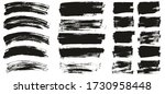 flat paint brush thin curved  ... | Shutterstock .eps vector #1730958448