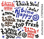 thank you happy time new fresh... | Shutterstock .eps vector #173096066