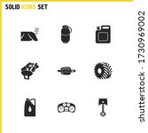 details icons set with car...