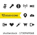 interface icons set with mute ...