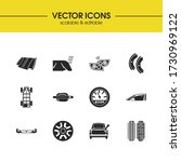 auto icons set with hoods ...