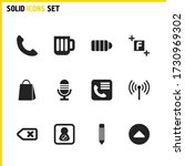 user icons set with microphone  ...