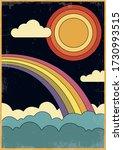1960s art style cover  poster... | Shutterstock .eps vector #1730993515