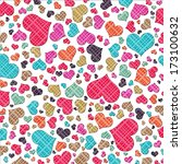 abstract background of hearts.... | Shutterstock . vector #173100632